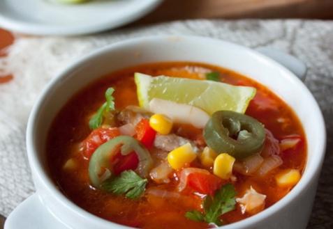 Огненный куриный суп