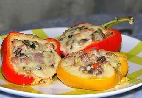 Рецепт - Перец, фаршированный ветчиной