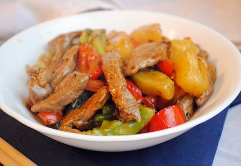 Рецепт - Кисло-сладкий стир-фрай из говядины
