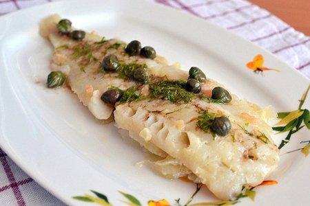 Рецепт - Рыба с соусом из каперсов