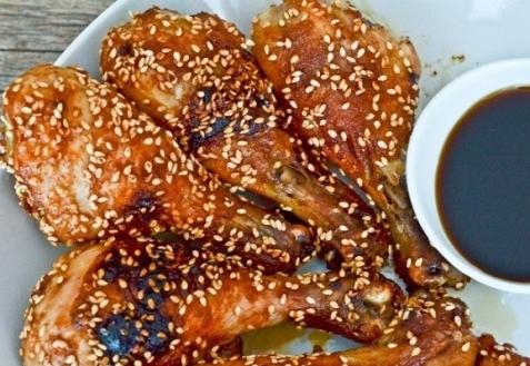 Запеченная курица с имбирем и кунжутом