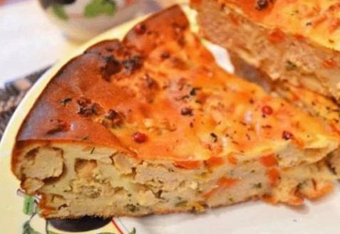 Морковный пирог с мясом (видео)