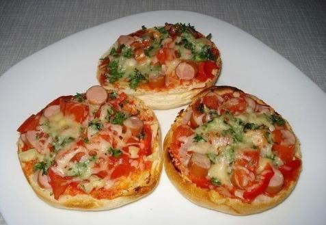 Пицца в булочках