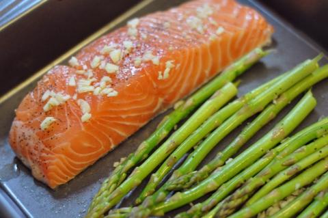 лосося со спаржей Рецепт