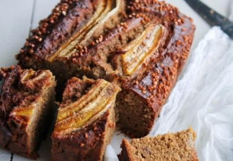 Банановый хлеб с гречкой