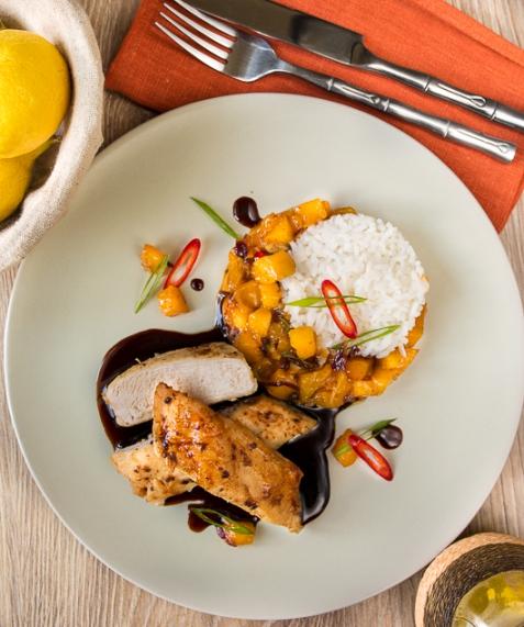 Куриное филе с манговым чатни