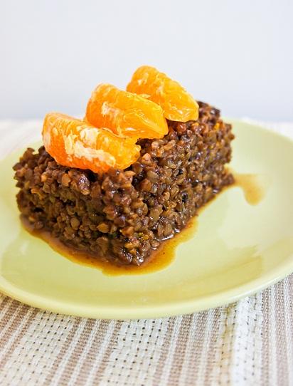 Рецепт - Гречка с финиками и апельсинами