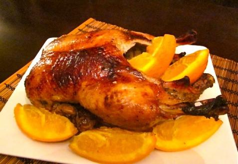 Рецепт - Утка в апельсинах