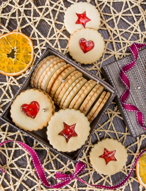 Линцское печенье с малиновым джемом