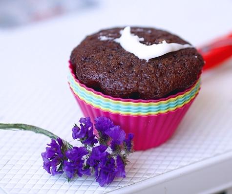 Постные блюда: Кекс за пару минут