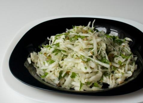 Капустный салат с каперсами