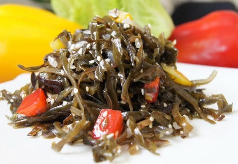 Постные блюда: Салат с морской капустой