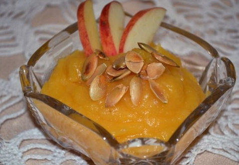 Тыквенно-яблочное пюре