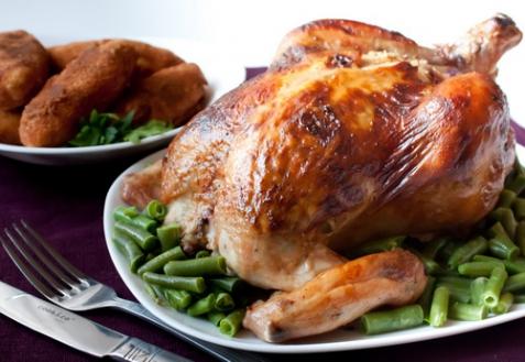 Курица с имбирем и острым перцем
