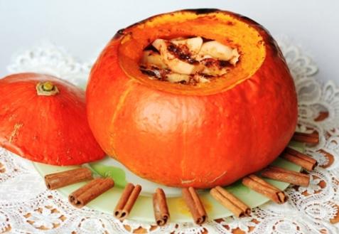 Рецепт - Яблоки в тыкве
