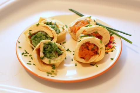 Рецепт - Омлет с овощами