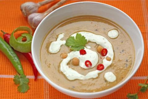 Рецепт - Пряный суп-пюре из нута