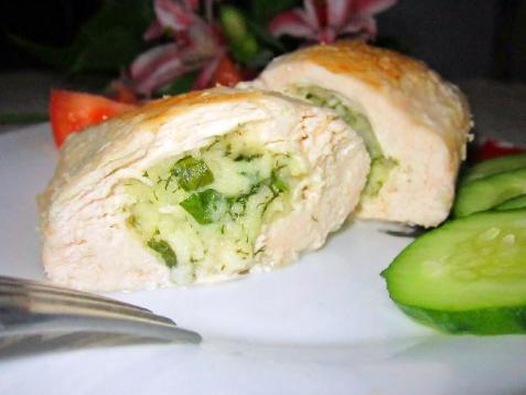 Рецепт - Куриное филе с брынзой