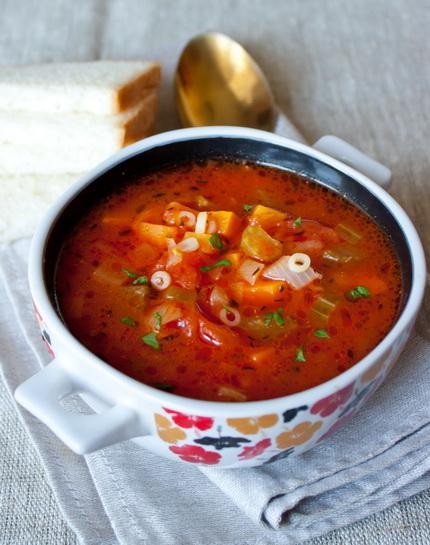 Томатный овощной суп