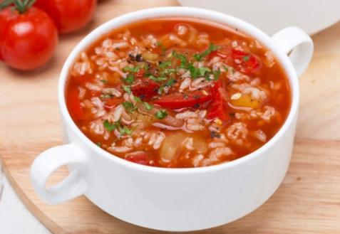 Постный суп с рисом