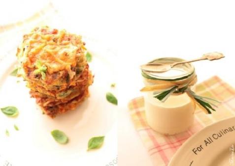 Рецепт - Овощные оладушки с сырной корочкой