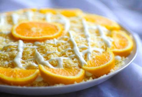 Рецепт - Салат «Дипломат» с апельсинами и сыром