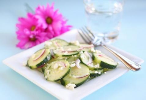 Рецепт - Огуречный салат с фетой