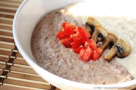 Рецепт - Двухцветный суп из фасоли