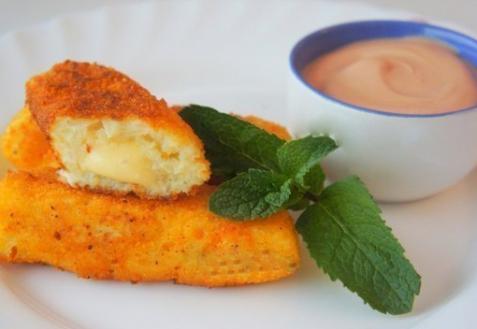 Рецепт - Палочки из картофеля с сыром