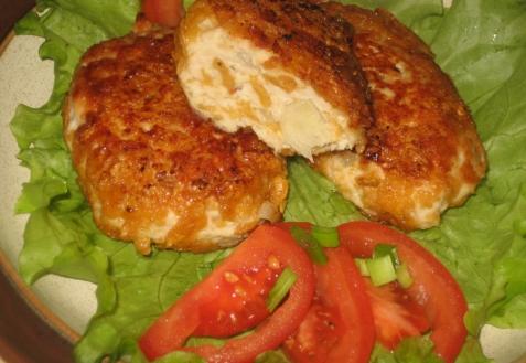 Рецепт - Котлеты из курицы с кукурузными хлопьями