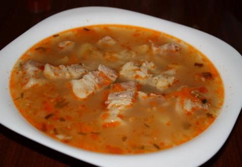 Густой суп из свиной грудинки