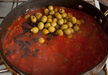 + оливки и изюм