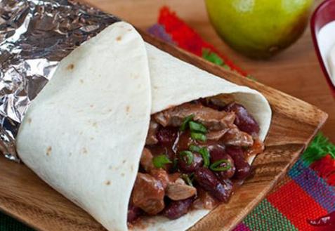 Рецепт - Буррито с мясом