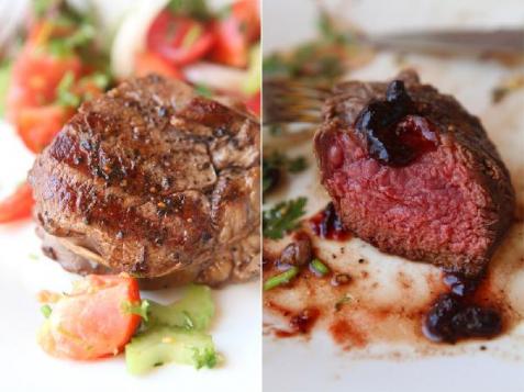 Рецепт - Стейк из говядины с классическим винным соусом