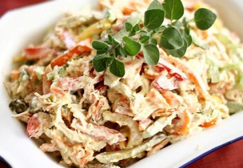 Рецепт - Салат с куриным мясом