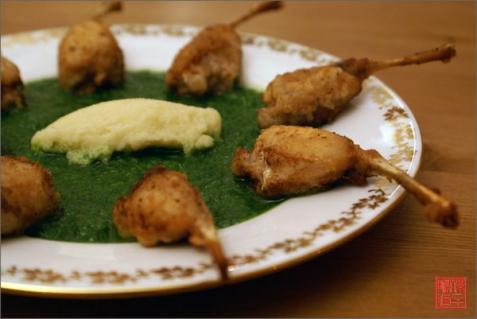 Рецепт - Лягушачьи лапки по-бургундски
