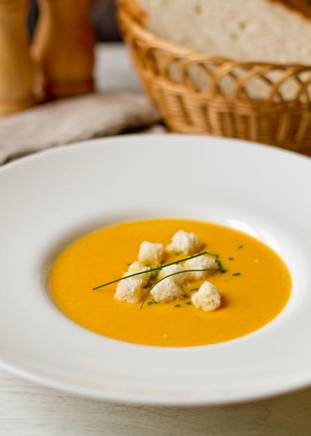 Тыквенный суп-пюре на кокосовом молоке