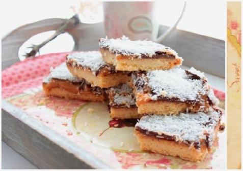 Рецепт - Песочное печенье со сгущёнкой и шоколадом