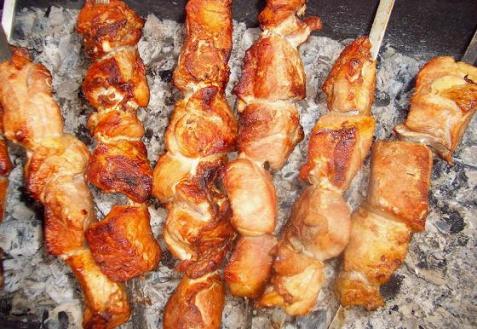 Рецепт - Шашлык из куриного филе