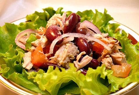 Салат с тунцом - рецепт