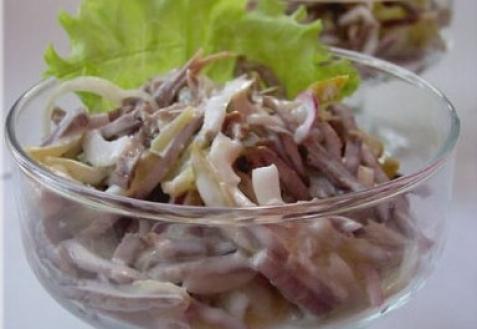 салат из говяжьего языка рецепты с фото