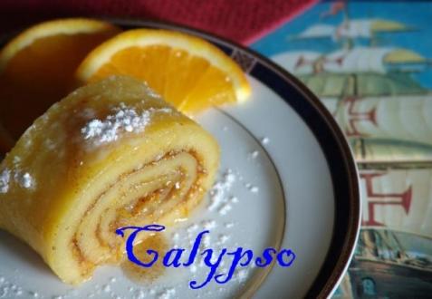 Апельсиновый рулет