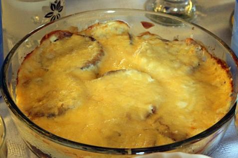 Пикантные баклажаны с сыром