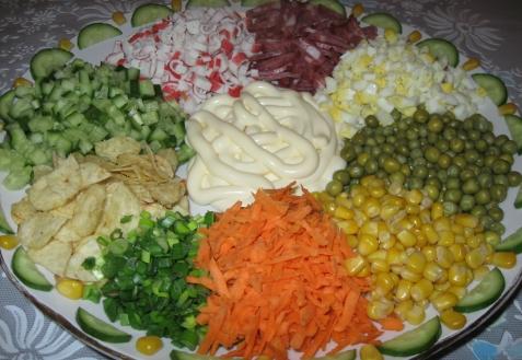 Салат «Ромашка»