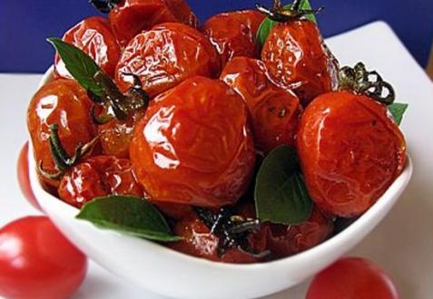 Карамелизированные помидоры черри