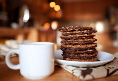 Печенье с кофейной глазурью