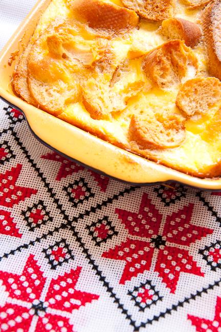 Рецепт - Карамельный хлебный пудинг
