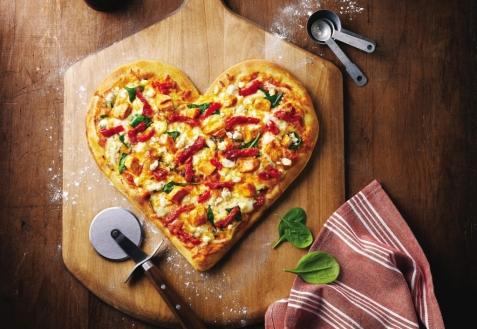 Рецепт на День святого Валентина: Пицца