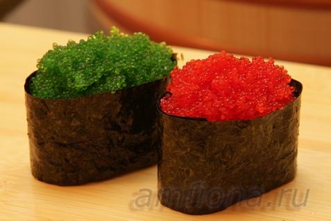 Рецепт - Гунканы с тобико
