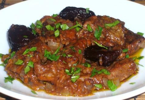 Рецепт - Мясо по–гречески
